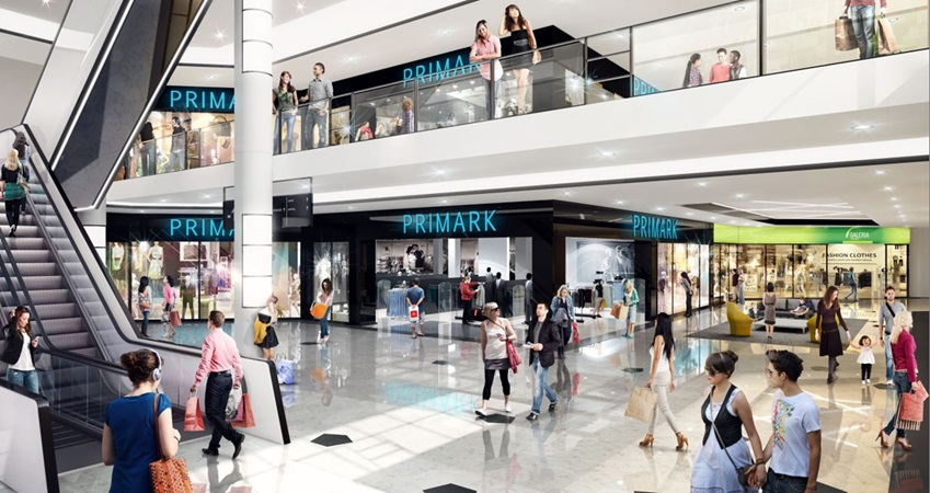 3d rendering of primark shopfront in gropius renovation project