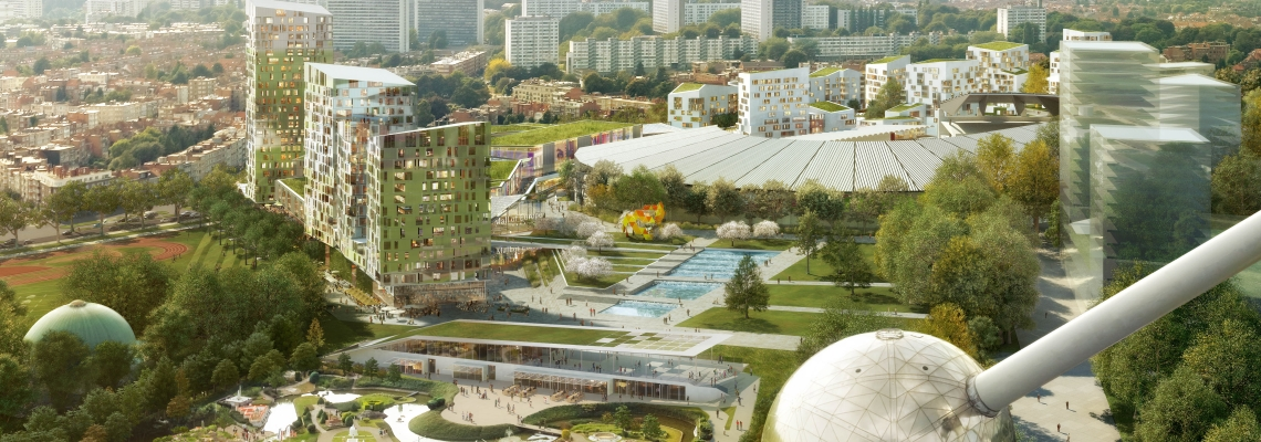 3D rendering of Mall of Europe shopping alley