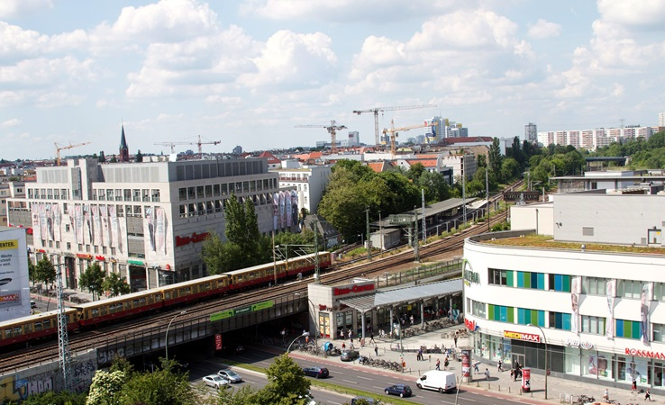birds eye view of ring center in berlin city